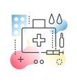 medicine pharmacy concept in trendy line vector image