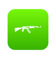 military rifle icon digital green vector image