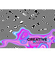 modern poster with 80 s wave pattern abstract vector image vector image