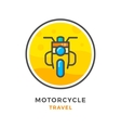 Motorcycle travel concept vector image vector image