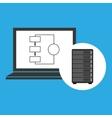 network server concept laptop data vector image vector image