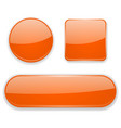 orange glass buttons 3d icons vector image vector image