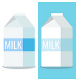 paper white and blue packaging milk close box vector image vector image