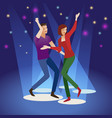 party background with dancing couple the concept vector image