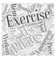 pilates exercise equipment Word Cloud Concept vector image vector image