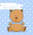 postcard with a bear cub for a boy vector image vector image