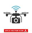 Radio Camera Drone Eps Icon vector image vector image