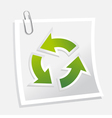 recycle symbol with note vector image vector image