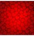 red background with hearts eps 8 vector image