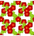 red flowers seamless vector image vector image