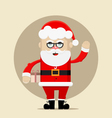 santa claus holding gift and waving vector image vector image
