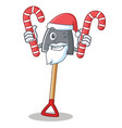 santa with candy shovel character cartoon style vector image vector image