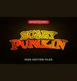 scary pumpkin text effect premium vector image vector image