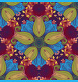 seamless colored ornate pattern vector image