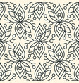 seamless linear minimalistic flower pattern on vector image vector image