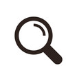 search icon magnifying glass vector image vector image
