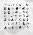 set ampersands for letters vector image vector image