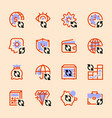 set icons banks money circulation vector image vector image