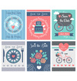 set wedding ornaments and decorative vector image