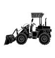 silhouette of wheeled tractor vector image vector image
