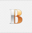 silver and gold font symbol alphabet letter b vector image vector image
