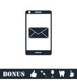 Smartphone email or sms icon flat vector image vector image