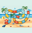 summer beach board game template vector image vector image