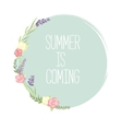 summer design Pastel blue pink color palette vector image