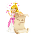 Sweetheart Princess with banner -your fairy tale vector image vector image