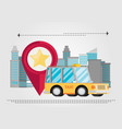 taxi car modern flat creative info graphics vector image vector image