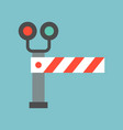 train stopping road block transportation icon vector image