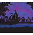 tropical landscape at night vector image