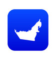 united arab emirates map icon digital blue vector image vector image