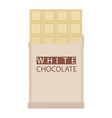 white chocolate bar isolated on white background vector image vector image