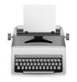 white typewriter mockup realistic style vector image vector image