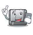 with phone button c on a keyboard character vector image vector image