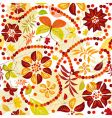 autumn flowers seamless pattern vector image