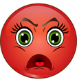 Angry red smiley emoticon vector image