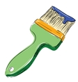 Brush with paint vector image