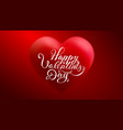3d heart with happy valentines day vector image
