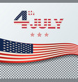 4th of july independence day background july vector image