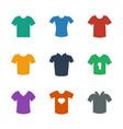 9 tshirt icons vector image vector image