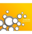 Abstract background with gray circles vector image vector image