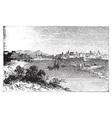 Alessandria city vintage engraving vector image vector image