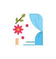 arch love wedding heart flat color icon icon vector image
