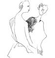 Art of Line Art - Lovers vector image vector image
