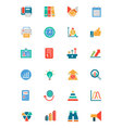 Banking and Finance Colored Icons 4 vector image vector image