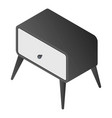 bedside furniture icon isometric style vector image