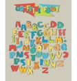Big set of colorful graffiti letters isolated on vector image vector image