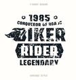 biker badge with texture vector image vector image